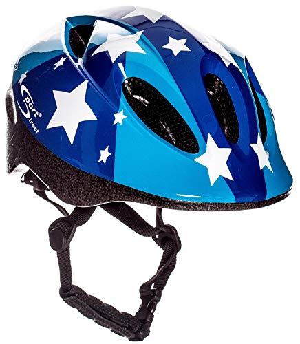Sport Direct Casque vélo Enfant, 11 ouies d'aération, Bleu; 48-52 cm