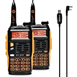 Baofeng GT-3TP Mark III Walkie Talkie VHF/UHF Ricetrasmittente Walkie Talkie professionale (2 pcs con cavo di programmazione)