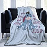 Vosga Throw Blanket, Acmiran Eeyore Super Soft Warm Throw Blanket for Sofa Clair Bed Office