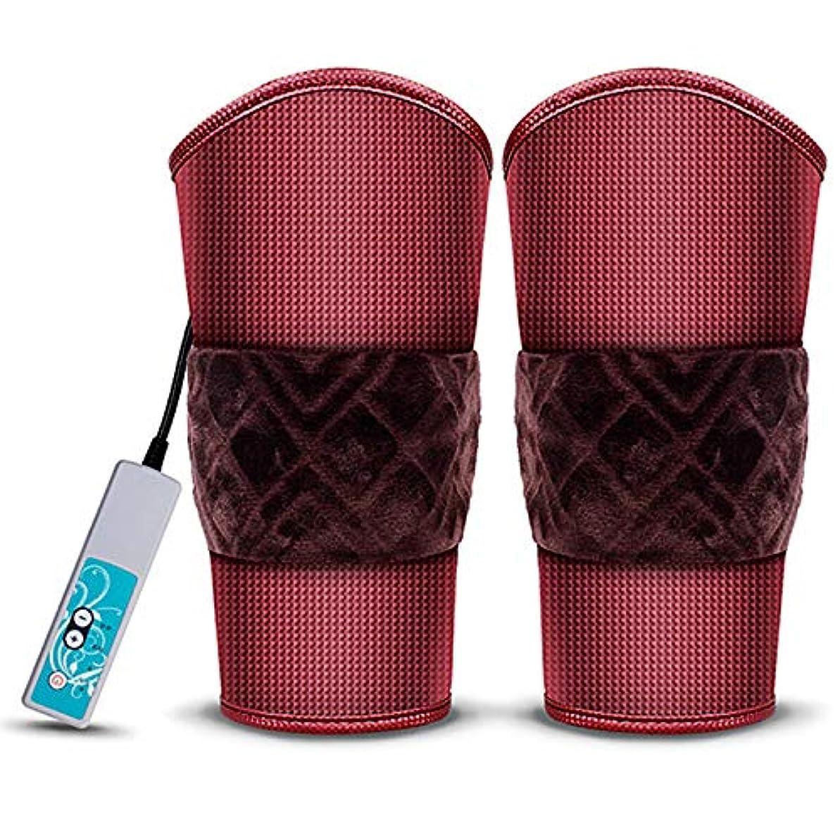 アデレードフィヨルド緩める男性と女性のための1ペアの電気加熱マッサージ-膝の怪我、関節炎、筋肉の痛みを軽減するための足と腕の加熱膝パッド