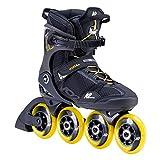 K2 Skates Hommes Patins en Ligne VO2 S 90 M Black_Yellow — Black - Yellow — EU: 39 (Mondo: 245 / cm: 24.5 / UK: 5.5 / US: 6.5) — 30F0145