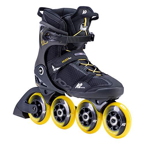 K2 Inline Skates VO2 S 90 M Für Herren Mit K2 Softboot, Black - Yellow, 30F0145
