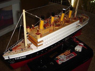 Minh Xuan Titanic Wooden Model Cruise Ship...