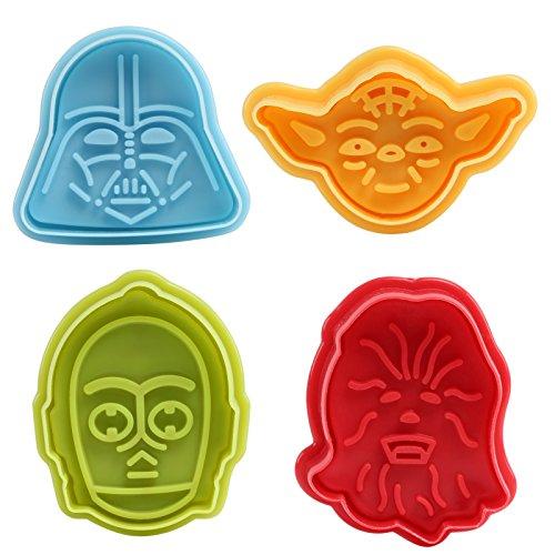 GWHOLE Fondant Ausstecher Star Wars Ausstechformen Plätzchenformen Backformen Keks Cookie Cutters Tortendeko