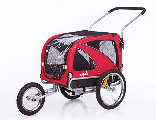 Sepnine 2 in1 Medium pet Dog Bike Trailer Bicycle Carrier and Stroller Jogger 10201 (red)