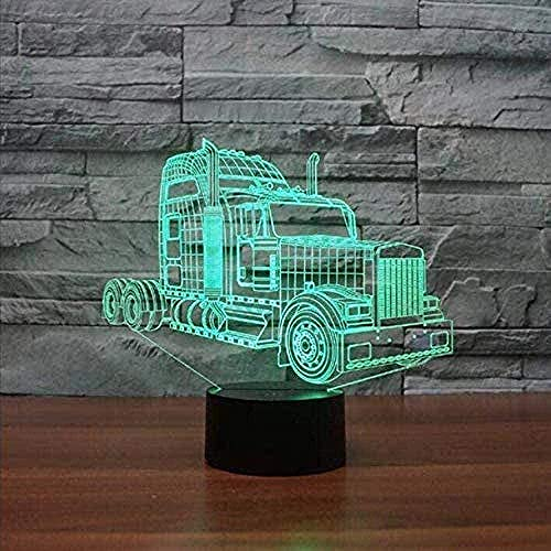 3D Illusion LED Night LightCar model7 Colors Change Home Bar Party Decoration Boy Holiday Gifts-16 color remote control