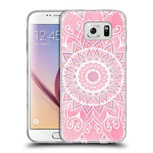 Head Case Designs Licenza Ufficiale Nika Martinez Caramelle Mandala Cover in Morbido Gel Compatibile con Samsung Galaxy S6