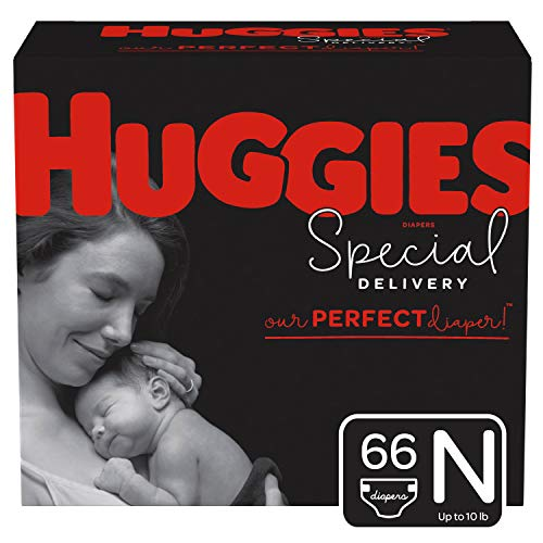 Huggies Special Delivery Hypoallergenic Baby Diapers, Size Newborn (up to 10 lbs.),...