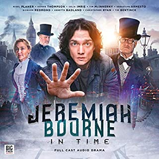 Jeremiah Bourne in Time                   By:                                                                                                                                 Nigel Planer                               Narrated by:                                                                                                                                 Nigel Planer,                                                                                        Siobhan Redmond,                                                                                        Sophie Thompson,                   and others                 Length: 3 hrs and 17 mins     22 ratings     Overall 4.5