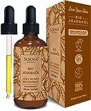 EINFÜHRUNGSANGEBOT BIO JOJOBAÖL | Kaltgepresst 100% Rein | Für Haare Haut & Nägel | Frei von Zusatzstoffen | 100ml im lichtgeschützten Braunglas | Natürliche Feuchtigkeitspflege von Soena Naturals