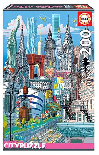 Educa Borras - Serie Citypuzzle, Puzzle 200 piezas, Nueva York (18472)
