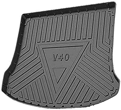 MEIDUN 100% New Coche Alfombrillas Maletero, Goma Alfombrillas Antideslizantes Impermeable Maletero Trasero Alfombra Protection Accesorios, para Volvo V40 2013 2014 2015 2016 2017 2018 2019