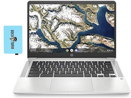 "HP Chromebook - 14a-na0023cl Everyday Value Laptop (Intel Celeron N4000 2-Core, 4GB RAM, 64GB eMMC, Intel UHD 600, 14.0"" Full HD (1920x1080), WiFi, Bluetooth, Webcam, 1xUSB 3.1, Chrome OS) with Hub"