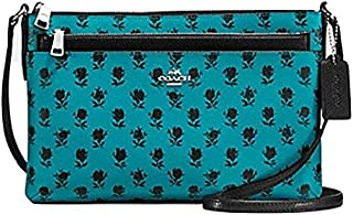 COACH F38159 EAST/WEST CROSSBODY WITH POP UP POUCH IN BADLANDS FLORAL PRINT COATED CANVAS