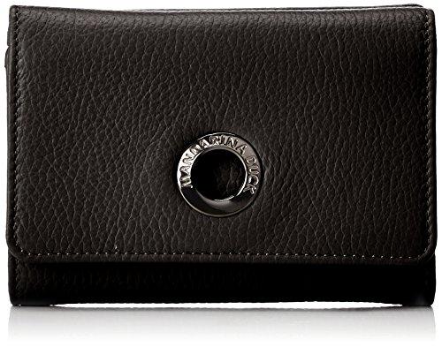 Mandarina Duck Damen Mellow Leather Portafoglio Geldbörsen, Schwarz (Nero), 10x21x28.5 cm