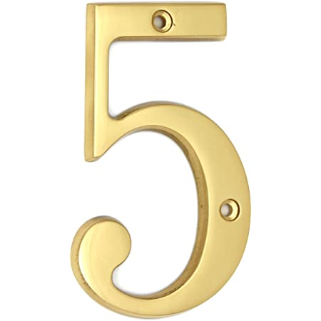 No.0 Polished Solid Brass Door Numbers 100mm 4inch