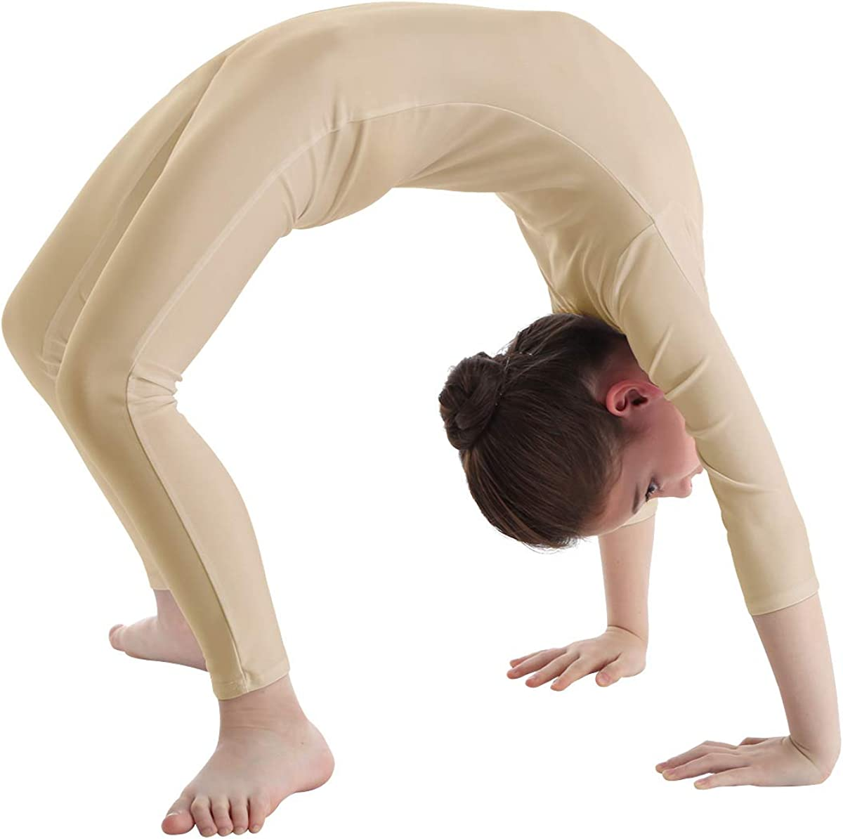 Agoky Girls Crew//Mock Neck Full Body Catsuit Gymnastics Leotards Unitard Dancewear