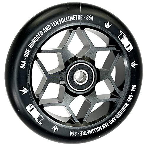 Patinete Blunt Stunt-Scooter Abec9 de 110 mm + pegatina Fantic26 (Diamond negro/poliuretano negro)