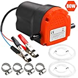 PLUMIA Oil Change Pump Extractor 12V 80W, Upgraded Diesel Fluid Scavenge Suction Oil Transfer Pump with Tube, Marine Oil Change Pump and Electric Oil Pump, For Boat Car Motorcycle ATV