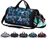 CoCoMall - Sacca sportiva da palestra con scomparto per scarpe e tasca per abiti bagnati, borsone da viaggio per uomo e donna, rosa, Size: 20 * 10.5* 10 inches --35 Liters