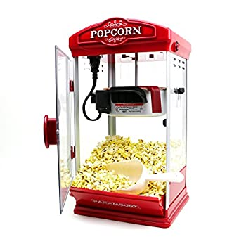 Popcorn Maker Machine by Paramount - New 8oz Capacity Hot-Oil Popper [Color  Red]