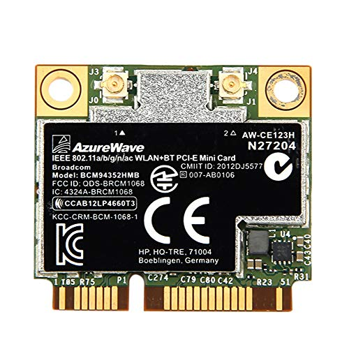 TOOGOO Dual Band Bcm94352Hmb Bcm94352 802.11 / Ac 867 Mbps WiFi 4.0 Pci-E WLAN Karte Aw-Ce123H Wi-Fi