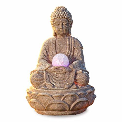 Pajoma - 53899 Fontaine Bouddha avec LED en polyrésine - 30 cm