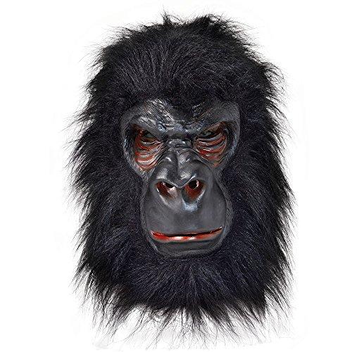 GORILLA Mask Latex With Black Hair (máscara/careta
