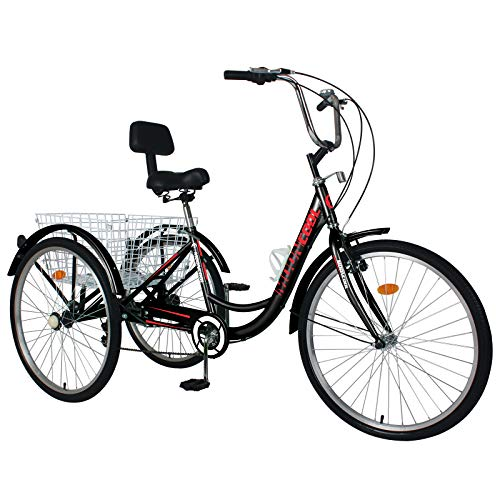 Best Entry Level 3-wheel Trike: ABORON Adults Tricycle 24/26 inch 7 Speed Cruiser   Trike