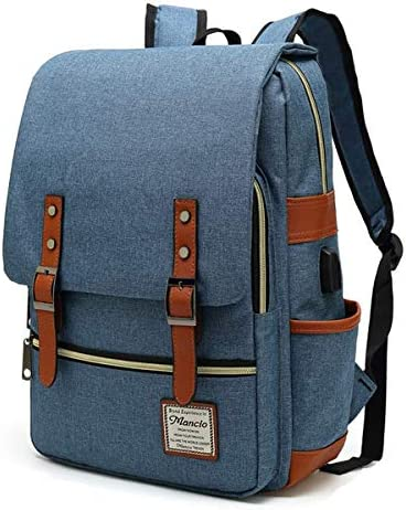 MANCIO Slim Laptop Backpack For women Man with USB Charging Port For Travel College School Fits product image