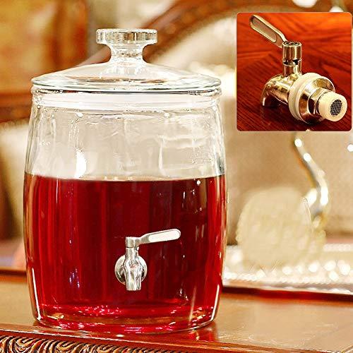 Mason pot van glas voor dranken en dranken met spigotdispenser, Jug 2/4/7.5/9 l, voor sap/bier/punch/Iced frisdrank Stainless steel Spigot 4l