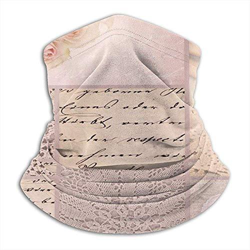 Roze romantische vintage microvezel nek warmer nek gaiter tube soft elastisch balaclava half masker unisex skihals gaiter cover