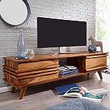 KADIMA DESIGN Lowboard Massivholz Sheesham Kommode 145 cm tv-Board Landhaus tv-M?Bel