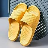 CCJW Ergonómica Flip-Flops del Dedo del pie Tanga Sandalias, Parte Inferior Suave de Paz Inicio Zapatillas Antideslizante Desodorante Bañera Zapatillas-42-43_Yellow, desagüe del baño rápida Mula kshu