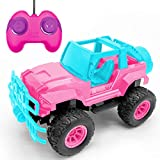 Rc Cars - Remote Control Car for Girls Newest 1:20 Scale Pink Off Road Remote Control Truck Big Foot Vehicle Toys with Rechargeable Batteries and Led Light