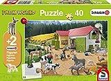 Schmidt Spiele Puzzle 56189, grün, EIN Tag auf dem Bauernhof, 40 Teile
