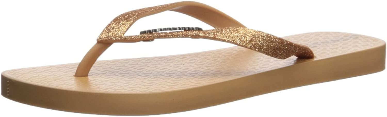 Ipanema Women's Glitter II Flip-Flop, Beige gold, 5 M US