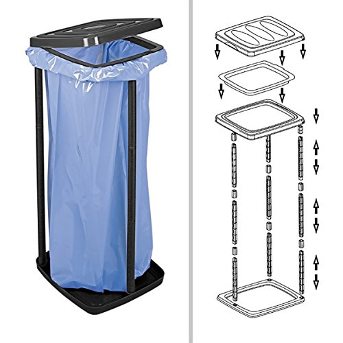 Müllsackständer aus Kunststoff mit Deckel, bis ca. 60 Liter