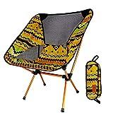 qidongshimaohuacegongqiyouxiangongsi angelausrüstung Oxford Verstellbarer Stuhl mit faltbaren Aluminiumfasern Angeltaschen EIN Leichter, tragbarer Outdoor-Camping-Stuhl (Color : Yellow)
