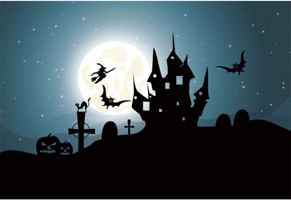 10x10ft Cartoon Dancing Skeletons Halloween Backdrop Vinyl Spooky Swaging Skeleton Illustration Photography Background Horror Night Spooky Night Happy Halloween Party Child Baby Shoot