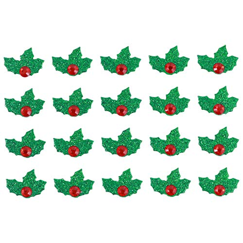 TINKSKY St. Patrick's Day Decoration Green and Red Christmas Holiday Holly Leaves Stickers DIY Christmas Decorative Stickers 5 Sheets