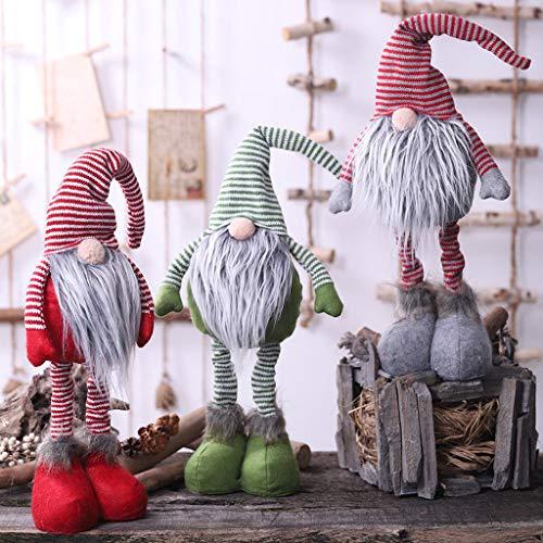 Huhu833 Weihnachten Deko Wichtel mit LED 52 cm Hoch, Schwedischen Weihnachtsmann Santa Tomte Gnom, Skandinavischer Zwerg Geschenke für Kinder Familie Weihnachten Freunde (Grau)