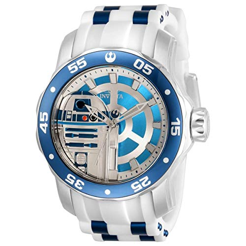 Invicta Star Wars R2-D2 Reloj de cuarzo con esfera azul para hombre 32518