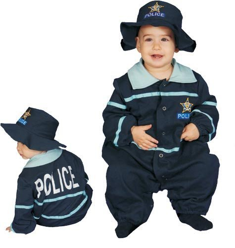 Dress Up America Baby Police Officer Costume, Blue, 9-12 Months by Dress Up America