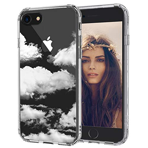 MOSNOVO Cloud Pattern Designed for iPhone SE 2020 Case/Designed for iPhone 8 Case/Designed for iPhone 7 Case - Clear