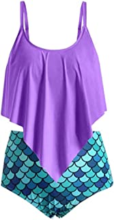 Wulofs Womens One Piece Tankinis Tummy Control Front Cross Backless Swimsuit High Waisted Beachwear