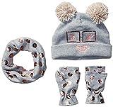 Spotted Zebra Girls' Kids Fleece Hat Mittens Cold Weather Accessories, Robot Set, Large...