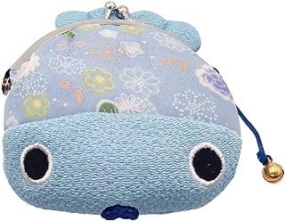 Goldfish Design Buckle Coin Purse - Japanese Chirimen & Kimono Pattern Pouch Bag
