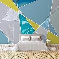カスタム写真壁画壁紙壁 3D 現代アート抽象幾何大理石パターンテレビの背景壁画リビングルーム,350(W)×256(H)Cm