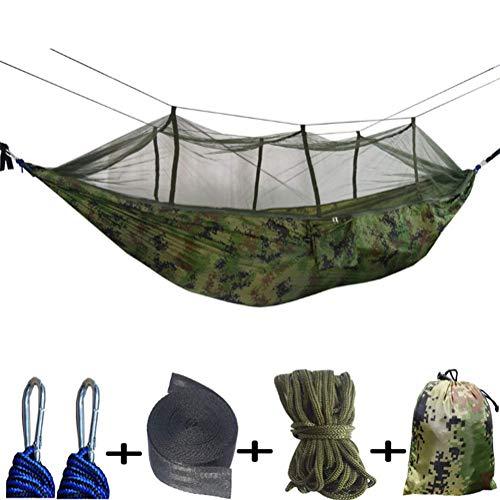KEKE Hangmat met muskietennet met muskietennet - 2 Persoon Ultra-Lichtgewicht Outdoor Travel Hangmatten voor Camping Wandelen Backpacking voor buiten, Wandelen, Backpacken, Reizen